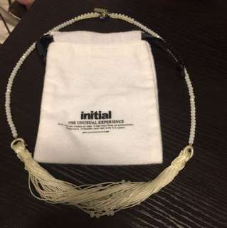 Initial white necklace