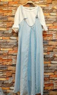 🚚 條紋背心裙