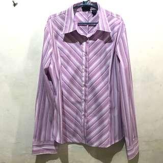 Purple Stripe Women's Polo