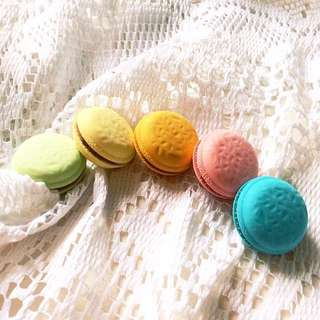 [Set of 5] Macaron Mayhem - Set of 5 Macaron Detachable Erasers.