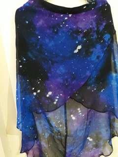 Forever 21 Galaxy Skirt