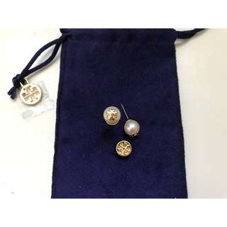 Tory Burch peral earrings 珍珠耳環