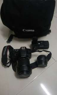 Canon EOS 550D + 18-135mm lens + others
