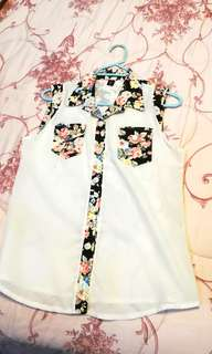Sleveless floral top