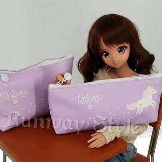Unicorn pouch and pencil case (1 set)
