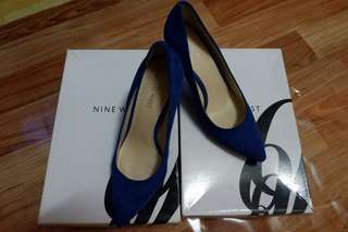 NINE WEST CHARLY BLUE SUEDE SIZE 36