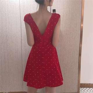 RED POLKA DOT CUTE DRESS