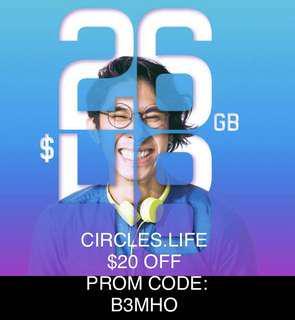 Circles.Life $20 OFF PROM CODE:B3MHO