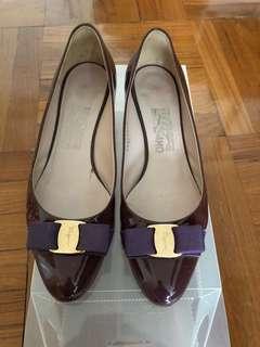 Salvatore Ferragamo Shoes purple patent size 9
