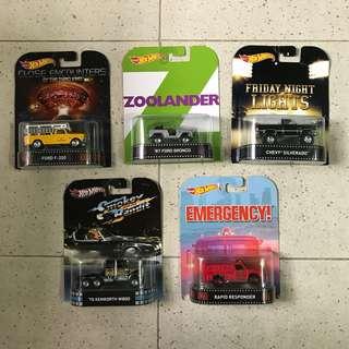 Hotwheels Retro Movies Pick-up Truck & Truck Lot