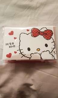 Hello kitty & melody 3D birthday card