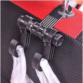 Car Seat Back Headrest Double Hook Hanger