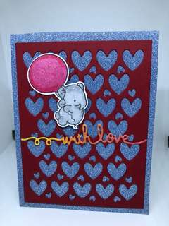 With love sparking card