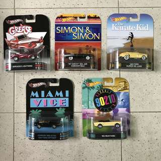Hotwheels Retro Movies Lot (Convertible Cars