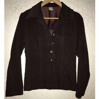 Dark Brown Ladies Coat Formal Office Jacket