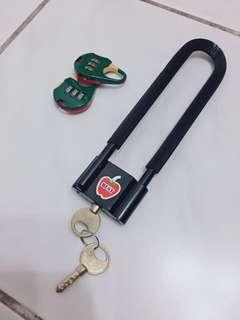 🚚 腳踏車鎖 贈送兩個密碼鎖
