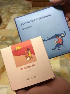 Brand New Unopened Innisfree Travel Kit + Free Handkerchief