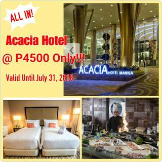 LIMITED VOUCHERS FOR CRIMSON & ACACIA HOTEL