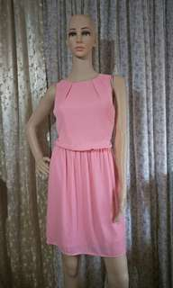 H&M Pink Chiffon Dress