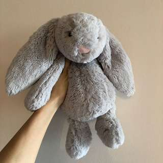 Jellycat Bunny medium grey / silver