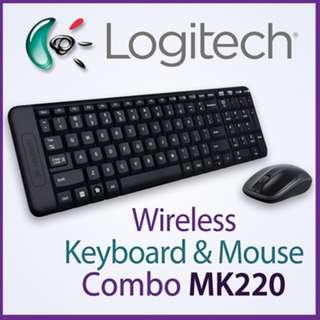 [ORIGINAL] Logitech Wireless Keyboard Mouse MK220 Combo MK 220 Cordless (MK270r option available)