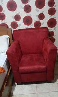 Jual sofa bahan suede.bludru halus empuk