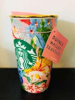 Starbucks x bando cup floral
