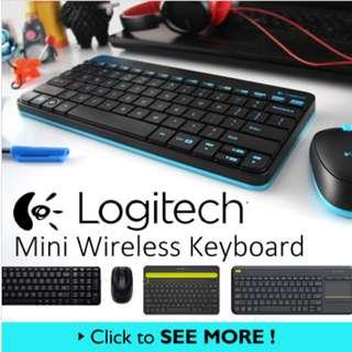 [Funky Creations]Logitech Wireless Keyboard MK240 NANO MK235 MK270 MK360 K480 K400Plus mouse