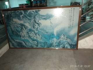 Tiger jigsaw chinese painting
