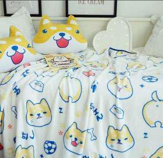 秋田犬毛毯(雙人)