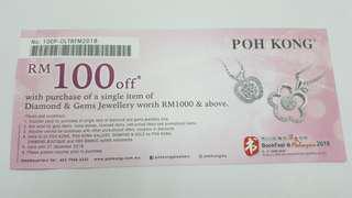 POH KONG discount voucher RM100 off