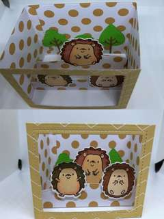 Hedgehog shadow card