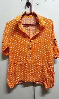 Orange Polka Dots Top
