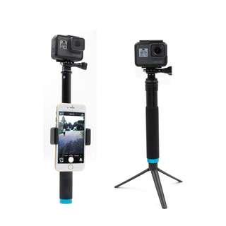 222.TELESIN 8''-35''Aluminum Extendable Selfie Stick