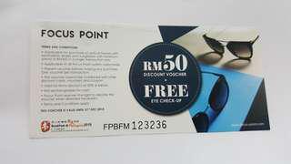 FOCUS POINT RM50 Discount Voucher + FREE check up