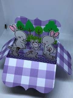 Bunny pop up card