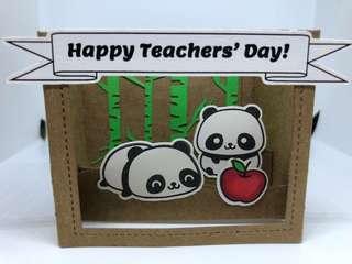 Panda Teachers Day card