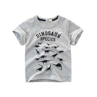 🚚 预购 2018儿童夏装新款男童短袖T恤 中大童服装恐龙卡通韩版童装
