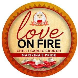 Mary's Hand Love on Fire Chili Garlic Crunch 100g