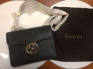 Authentic Gucci interlocking shoulder bag crossbody bag 手袋 brand new