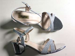 Figlia Eve Silver Heels (once used)