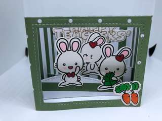 Bunny green Teachers Day card