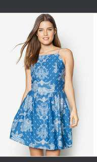 New Look Paisley Print Strappy Skater Dress