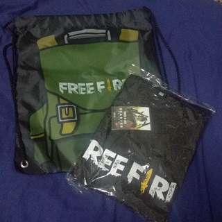 Freefire T-Shirt (S), Knapsack & Starter Card