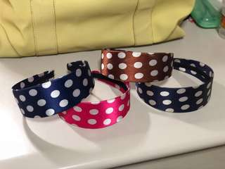 Polka Dot Headband (Set of 4)