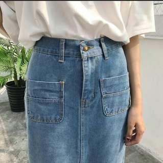 Rok Denim / Denim Skirt Medium