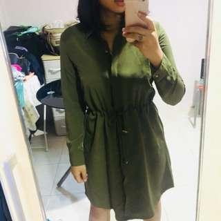 The Executive Olive Dress