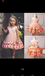 ONHAND Baby girl party flower dress
