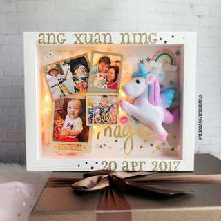 Personalised 3D Photo Frame (Sweet Little Unicorn)