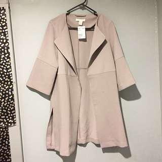 H&M BNWT Nude Coat